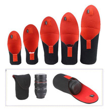 5pcs/Lot Soft Waterproof Neoprene DSLR Camera Bag Lens Pouch Cover Flexible Protector Case for Canon Nikon Sony Covers(China)
