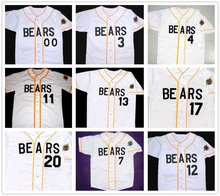 Bad News Bears 12 Tanner Boyle 3 Kelly Leak Baseball Jersey Bail Bonds #4 #7 #11#13 #14 #17 #20 #22 #33 #44 #77 Stitched Numbers(China)