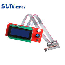 Sunhokey 3D Printer Parts High Quality LCD2004 Display with Cables & Adaptor for 3D Printer(China)