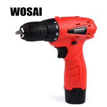 WOSAI 12V DC Household Lithium-Ion Battery Cordless Drill Driver Power Tools Electric Drill Durable and Affordable(China)