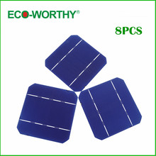 ECO-WORTHY 20W DIY Solar Panel 8pc 5x5 High A Grade Power Mono Solar Cells 2.6W/Pc Hobby Gift