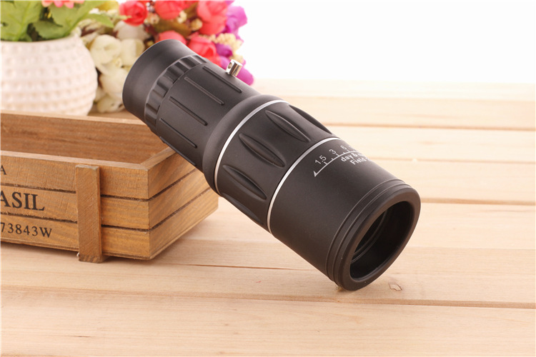 16X52 HD Portable Dual Focus Zoom Monocular High Power Optical Lenses Telescope Spotting Scope for Outdoor Camping Travelling 16