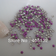One Bag OD-72-Purple Free Shipping 3D 3x3mm Neon Purple Small Star Metal Stud Shiny Nail Decoration Lovely Outlooking