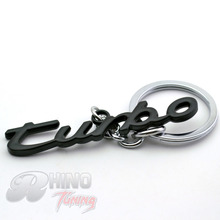 Rhino Tuning Black Turbo Letter Car Key Chain for Lacrosse Encore Grand CTS-V WAGON Auto Car Decoration Key Ring 219bk