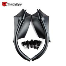 333 ER Universal Aluminum Motorcycle Custom Rearview Side Mirror Accessories for Ducati KTM Yamaha Suzuki Kawasaki BMW, Black(China)
