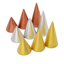fashion lychee 3pcs Finger Rings Display Stand Wood Cone Ring Holder Ring Showcase Wooden Props(China)