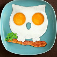 Cute Silicone Owl Egg Fried Shaped Mold Shaper Ring Kitchen Cooking Tool