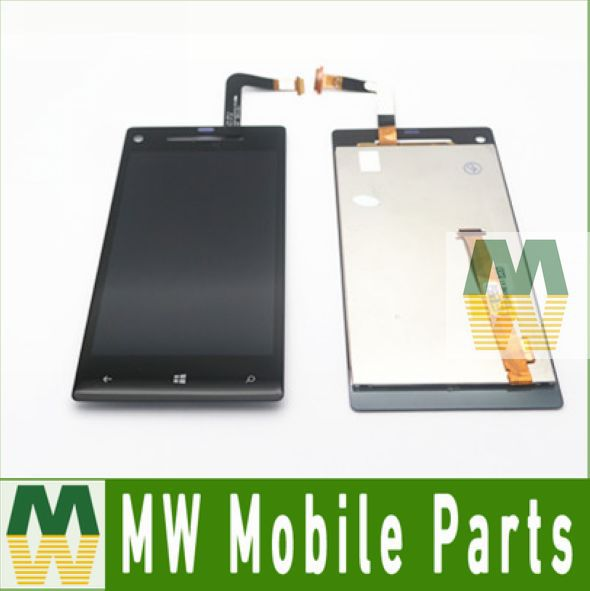 1PC /Lot  LCD Display With Touch Screen Assembly For HTC 8X C620E Black color<br><br>Aliexpress