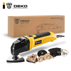 DEKO 220V Электрический многофункциональный Осциллирующий Набор инструментов с переменной скоростью, многофункциональный инструмент для эле...