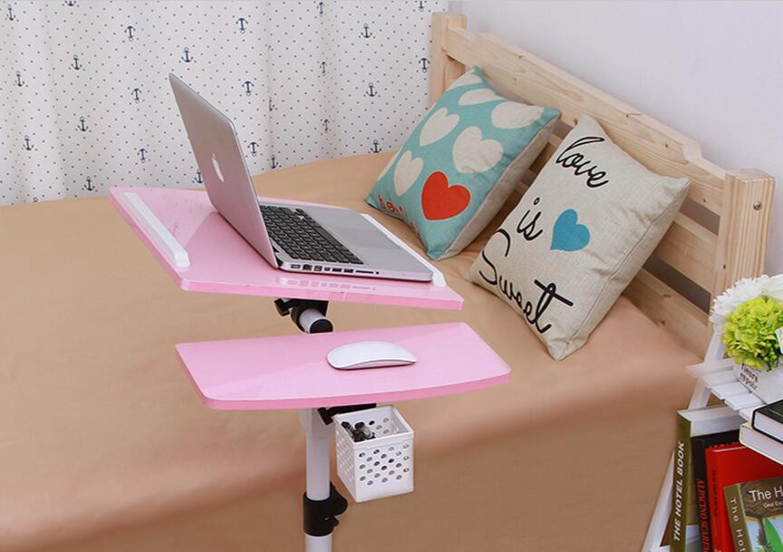 68*40cm High quality 360 Degrees Rotation Laptop Desk Movable Anti-Slip Notebook Computer table with pen case