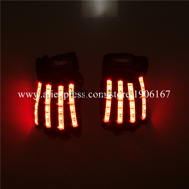 Led Gloves Stage Show Props LED Light up Gloves Glow Party Supplies11