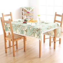 European-style Green Handmade Table Cloth Table Cover White Table Embroidery Cloth Table Mat