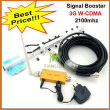 3G Repeater W-CDMA 2100Mhz Mobile Phone UMTS Signal Booster 3G WCDMA Signal Repeater Amplifier with 13dBi Yagi Antenna 10m Cable