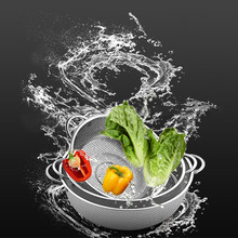 Kitchen Gadgets Multifunction Mesh Stainless Steel Kitchen Vegetable Fruit Strainer Colander Sifter Sieve Fruit Baskets YX#(China)