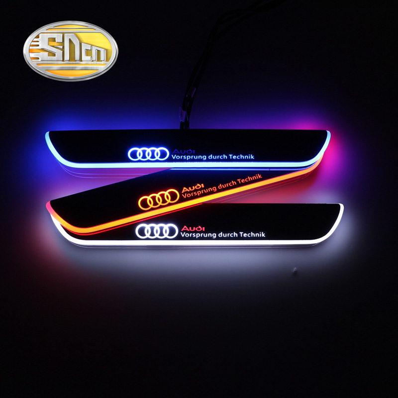 Top Quality Waterproof Ultrathin Acrylic LED Welcome Scuff Plate Pedal Door Sill For Audi A3 S3 2014 2015<br><br>Aliexpress