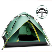 Tent outdoor 3 - 4 field fully-automatic water-resistant double layer camping tent set/110809
