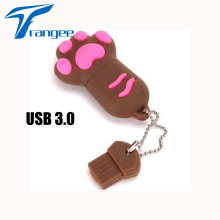 Super-speed USB 3.0 Cartoon Cat Paw 8GB 16GB 32GB USB Flash Memory Disk/Pen Drive Chirstmas Gifts Pendrive