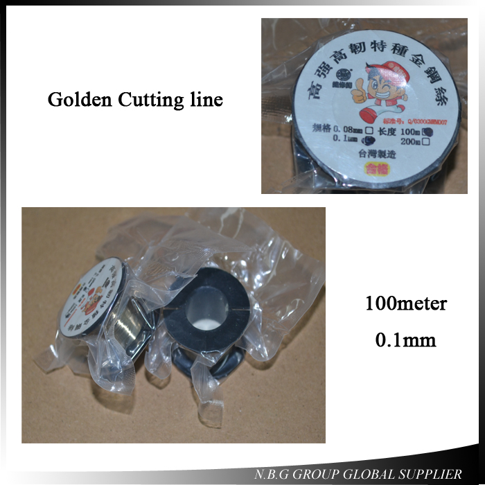10pcs/lot 100M Cutting Wire 0.10mm Cutting Wire Line Splitter LCD Screen Gold for Separate For All Cellphones 100m Cutting Wire(China)