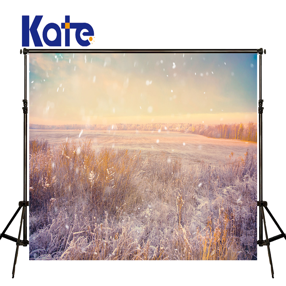 5x6.5FT Kate Bokeh Photography Backdrops Grass Backgrounds Snow White Photos Scenic Photo Backdrops<br>