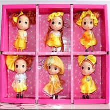 12CM  New toy! Cute Confused Doll Mobile Phone Pendant, Fashion Dolls (6-color Hybrid Delivery!)