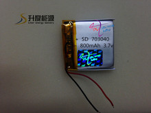 Accept paypal!! 3.7v 703040 800mah li-polymer battery rechargeable lipo battery