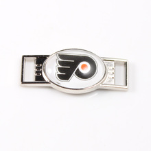 Philadelphia Flyers NHL Hockey Team Logo Oval Shoelace Charms For Sport Shoes And Paracord Bracelets Jewelry Decoration 6pcs(China)