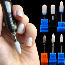 1 Pc Optional M XC Sizes Ceramic Nail Drill Bit for Electric Manicure Drills Machine Dead Skin Nail File Polish Tool Accessories
