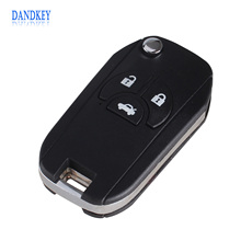 Dandkey Flip Folding Remote Key Shell For Nissan Sylphy 3 Buttons Switch Blade Fob Replacement Key Case Cover(China)