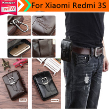 Genuine Leather Carry Belt Clip Pouch Waist Purse Case Cover for Xiaomi Redmi 3S Phone Bag /Cell phone Case Free Shipping 3223