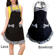 work Apron Retro antifouling Cute Cotton Kitchen Aprons for Women Girls Cooking Dress Vintage