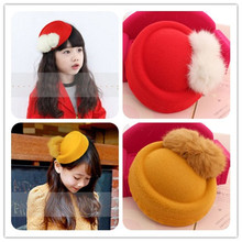 Small cloth material hat tire sell like hot cakes Double areata berry cap children hat clip do manual work is delicate
