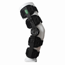 HKJD Medical Knee Brace ROM Hinged Black Knee Brace Adjustable One Size fit all Release pain from Illness