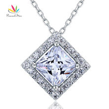 Peacock Star Bridesmaid Wedding Solid 925 Sterling Silver Pendant Necklace Jewelry CFN8036