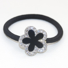 2017 Promotion Hot Sale Unisex Children Korean Fashion Headdress Flower Ring Diamond Five Imported Sweet Hair Rope Wholesale