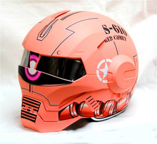 Personality motorcycle helmet men Genuine and women iron 610 man retro the high-end off-road motorcycle Pink(China)