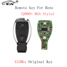 Buy RIN 2pcs*2Buttons 433Mhz Smart Remote Key Keyless Fob Mercedes BENZ 2000+ NEC&BGA style Auto Original Car keys for $37.99 in AliExpress store