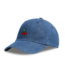 LADUNDI 2017 New Arrival Dad Hat Leisure Fresh Fruit cap Embroidery Hat Strawberry Banana Cherry Orange Peach Baseball Cap For W