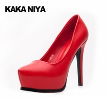 Ultra High Heels Stiletto 4 34 Small Size Bride Red Platform 2017 12cm 5 Inch Ladies Autumn Shoes Pumps Pointed Toe Slip On