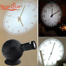 New LED Analogue Projection Wall Clock Cold Light Beam Virtual Shadow Home Bedroom