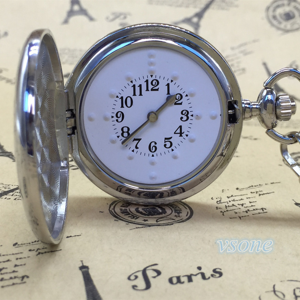 Stainless Steel Tactile Pocket Watch For Blind People Pocket Watch Pocket tactile Watch<br>