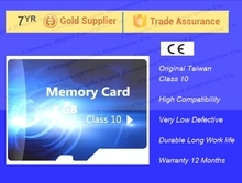 100pcs/lot Real 8GB micro size factory cheap price Memory sd Card 8gb class 10 /sd card/TF card support for Samsung moble phone(China)