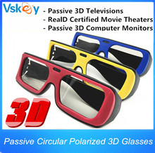 3pcs For Adult Polarized Passive 3D Glasses For Passive 3D Televisions RealD Movie 3D Movie Theaters 3D TV Cinema System