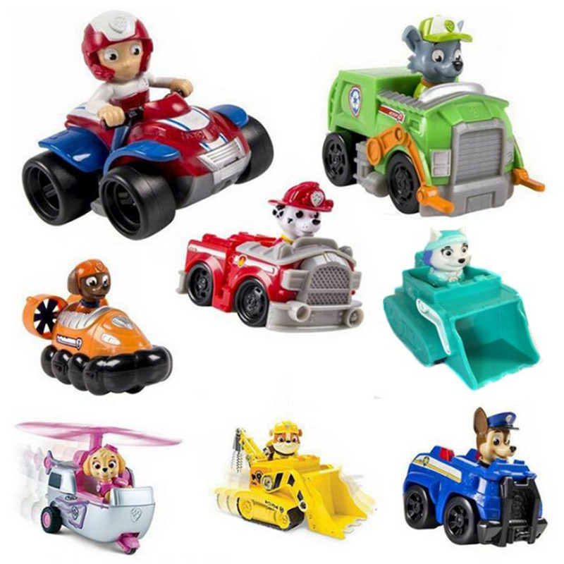 Patrol Dog 8pcs/set Russian Kids toy Patrulla Canina Everest Ryder Skye Chase Vehicle Car Spain Patrol Canine Toys for Children<br><br>Aliexpress