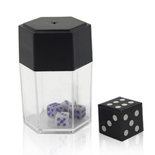 New Children's Magic Toys Turning the Big Dice into Small Dices Close Up Magic Trick Joke Prank Toy Children Kids Gift(China)