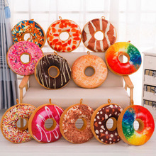 2017 NEW Soft Donuts Plush Pillow Sweet Sofa And Chair Back Cushions Car Mats Kids Children Pillow Toy Home Decoration