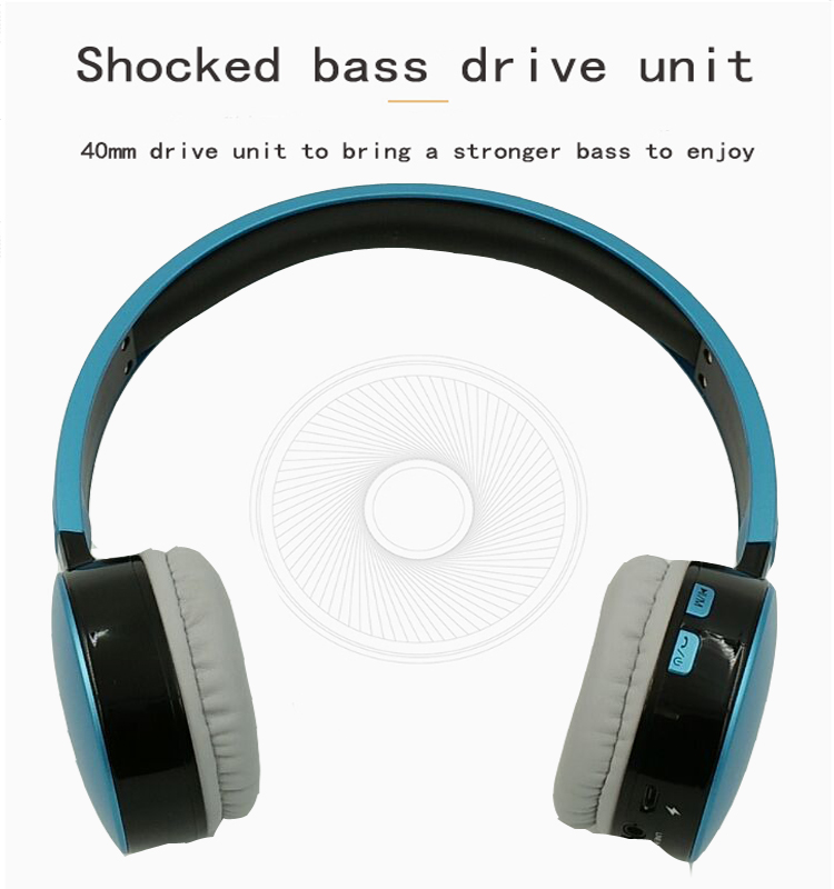Hisonic Bluetooth Headset Wireless Headphones Stereo Sport Earphone Microphone Gaming Cordless Auriculares Audifonos 9