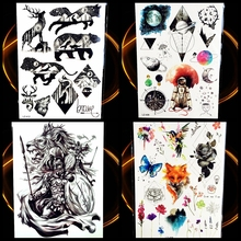 Greek Myth Hero Spartans Temporary Tattoo Sticker Men Body Arm Tattoo Sleeve Waterproof Fake Flash Power Warrior Tattoo Black(China)