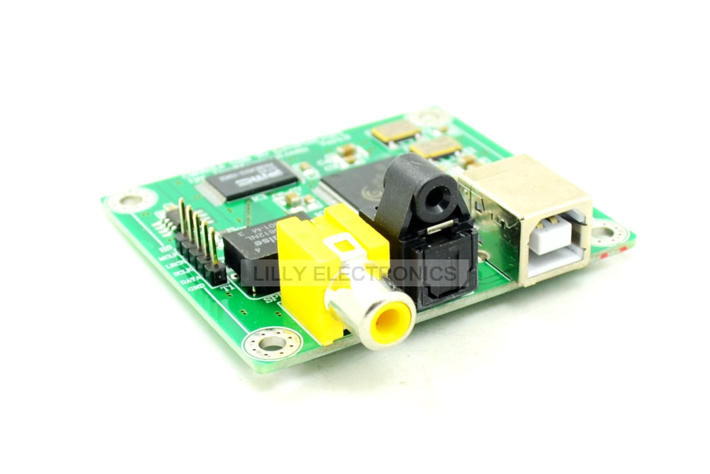 Hi-Fi CM6631A 192KHZ to Coaxial Optical SPDIF Convertor DAC Board 24bit USB 2.0<br>