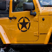 US ARMY five-pointed star design decor sticker on car for JEEP WRANGLER and so on,brothers style car stickers and decals labels(China)