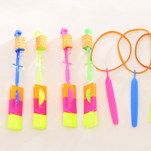 2017 Fashion Cool Flashlight Archery Flying Fairy Flash Helicopter Flight LED Light Illuminated Child Outdoor Game Toy(China)